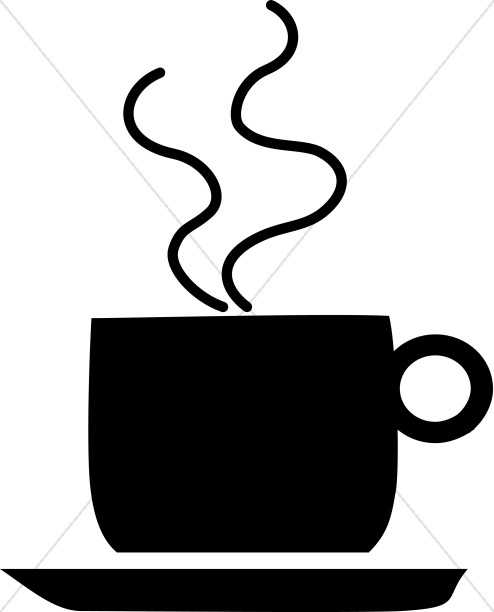 494x612 Silhouette Coffee Mug Coffee Hour Clipart