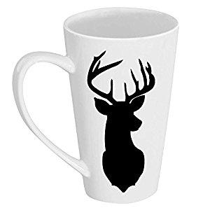 300x300 Deer Silhouette 17 Oz Tall Latte Mug Coffee Cups Amp Mugs