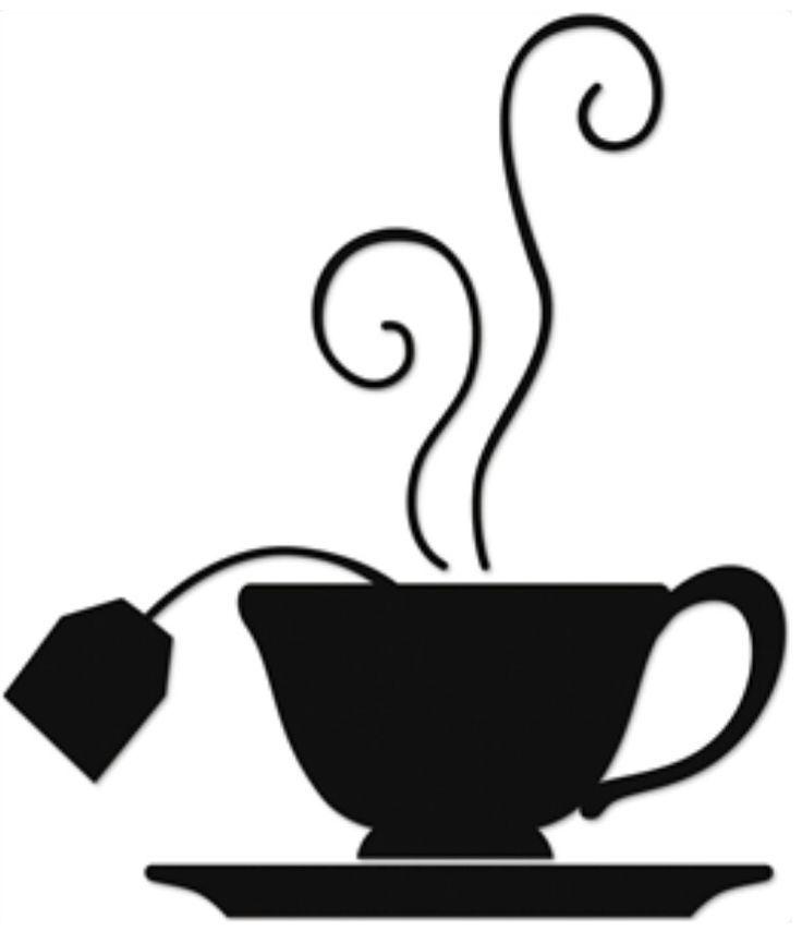 736x854 Tea Time Silhouette Image Tea Amp Coffee Cup Art
