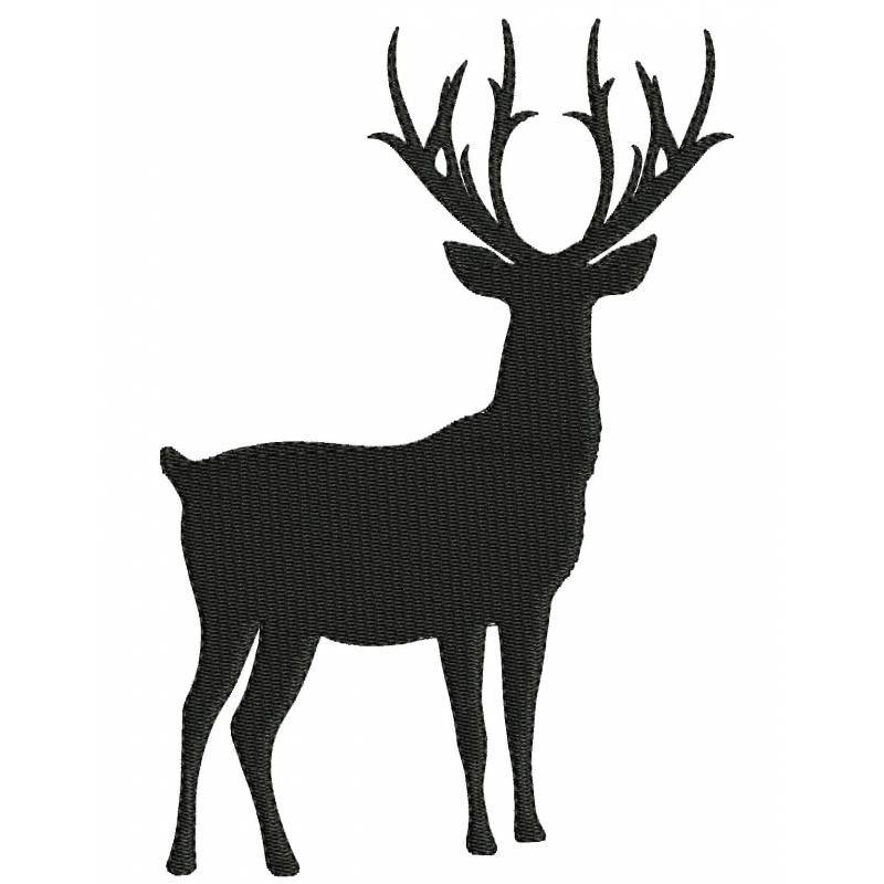 800x800 Deer Silhouette Clipart Black And White