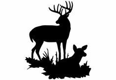 236x164 Joe's Mule Deer Buck Silhouette, Mule Deer Coloring Page 400x400px