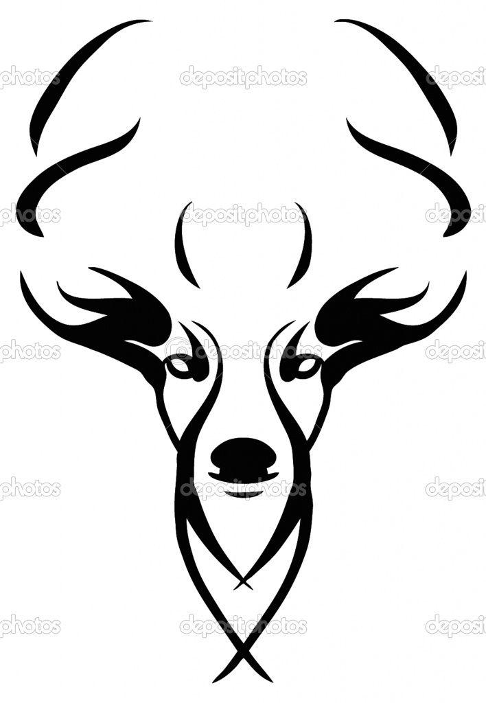 708x1024 Easy Drawing Of Deer Head