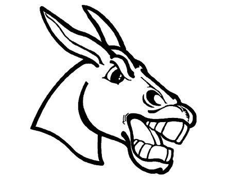 439x349 Mule Head Drawing
