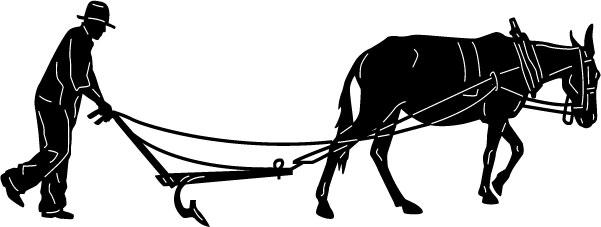 601x227 Mule Clipart Plow