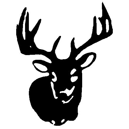 438x438 Awesome Deer Head Silhouette