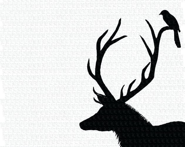 630x500 Deer Antler Silhouette Deer Antler Silhouette Free