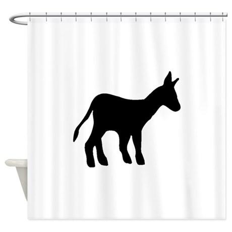 460x460 Donkeys Mules Shower Curtains