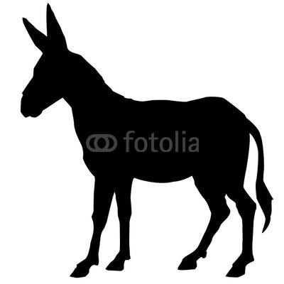 400x400 Mule Head Silhouette