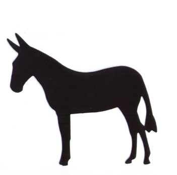 351x346 Mule Silhouette Black Magnet