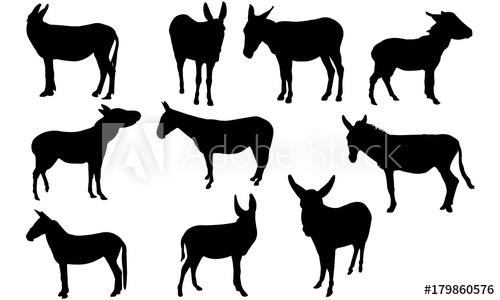 500x300 Mule Silhouette Vector Graphics