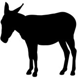 160x160 Mule Silhouette Vector Graphics Stock Image And Royalty Free