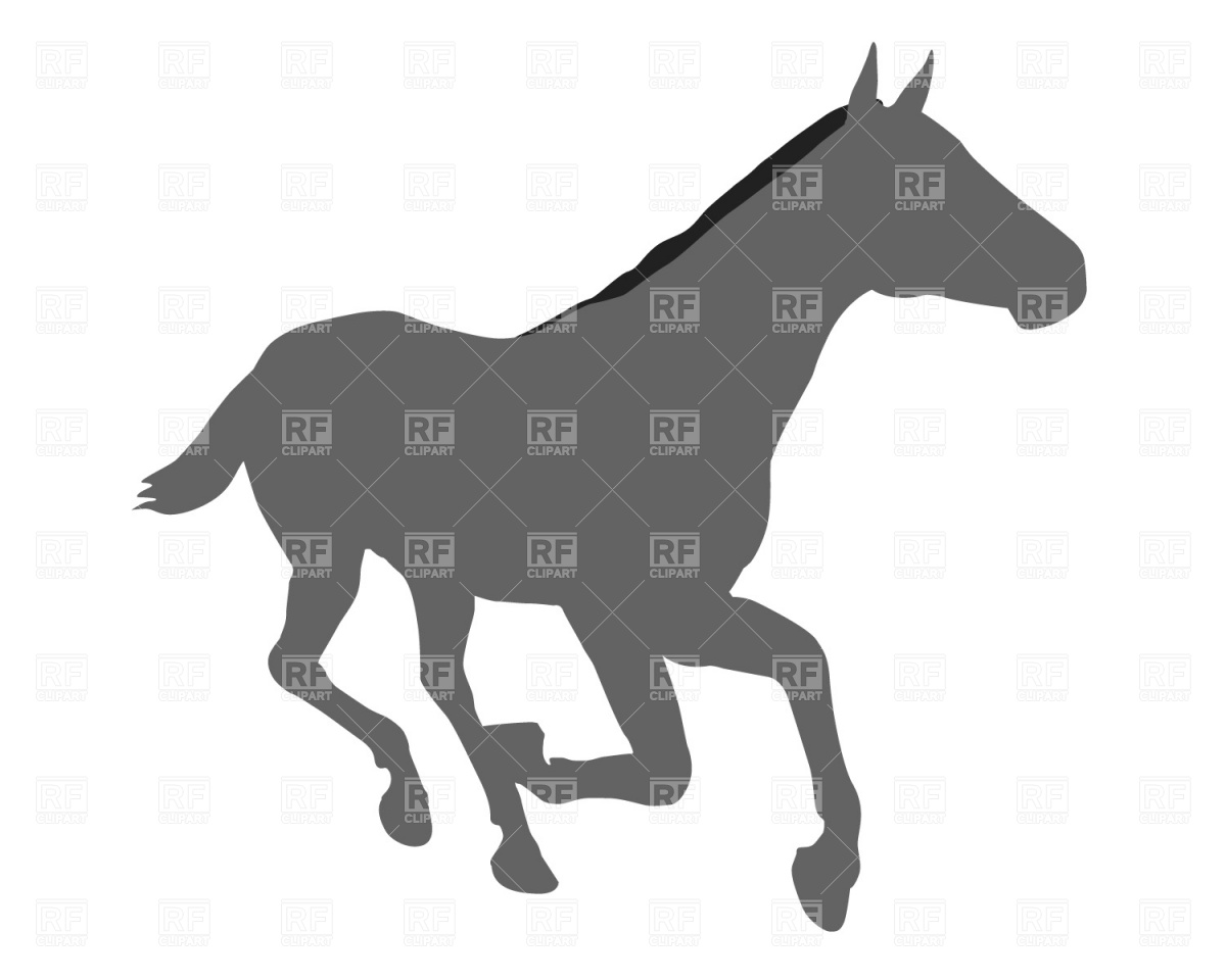 1200x960 Running Horse Silhouette Free Vector Clip Art Image