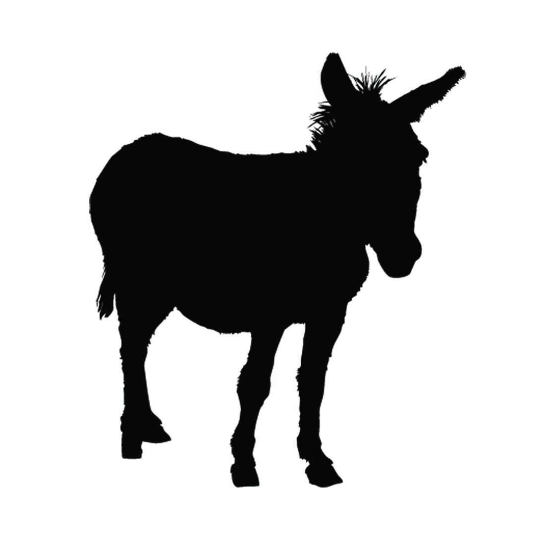 1100x1100 Donkey Silhouette Stencil Free Stencil Gallery
