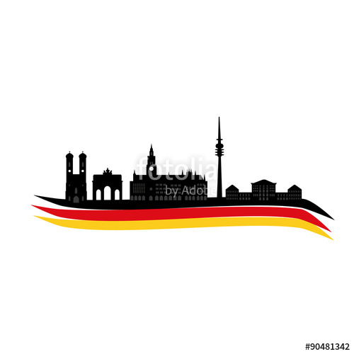 500x500 Munich Skyline Stock Image And Royalty Free Vector Files