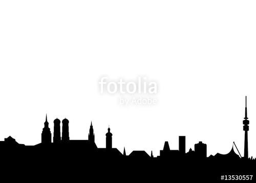 500x357 Schlicht Skyline Munchen Munich Landmarks Stock Image And Royalty