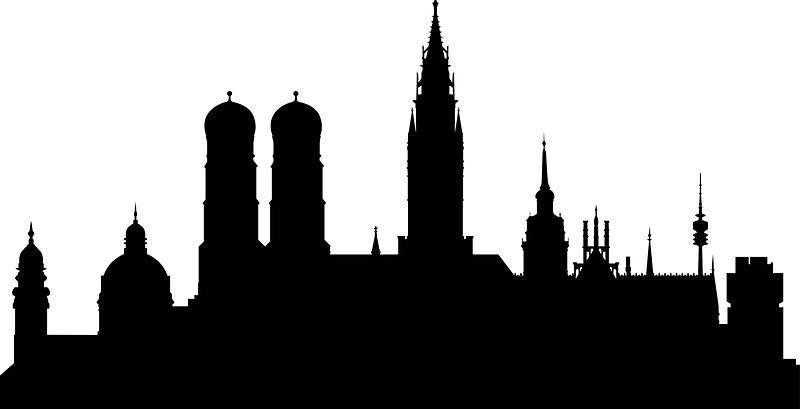 800x409 Munich Skyline Stickers By Maximgertsen Redbubble