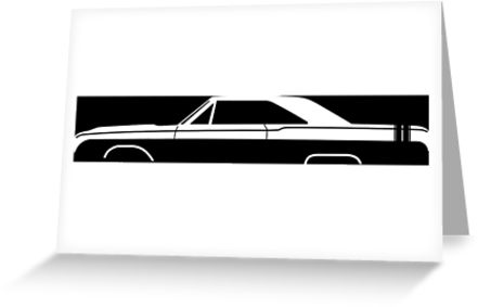 441x283 Car Silhouette For 1968 Dodge Dart Gts Enthusiasts Greeting Cards