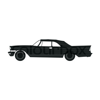 Muscle Car Silhouette At Getdrawings Com Free For Personal Use