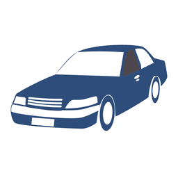 256x256 City Car Front View Silhouette