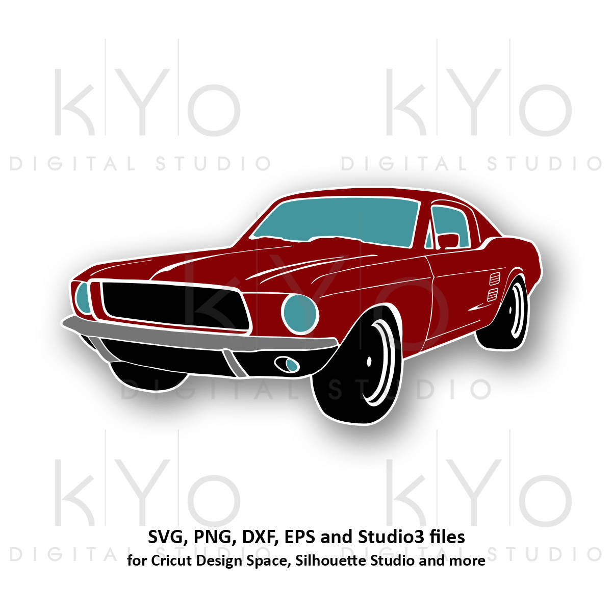 1200x1200 Classic Ford Mustang Svg Png Mustang Car Silhouette Svg
