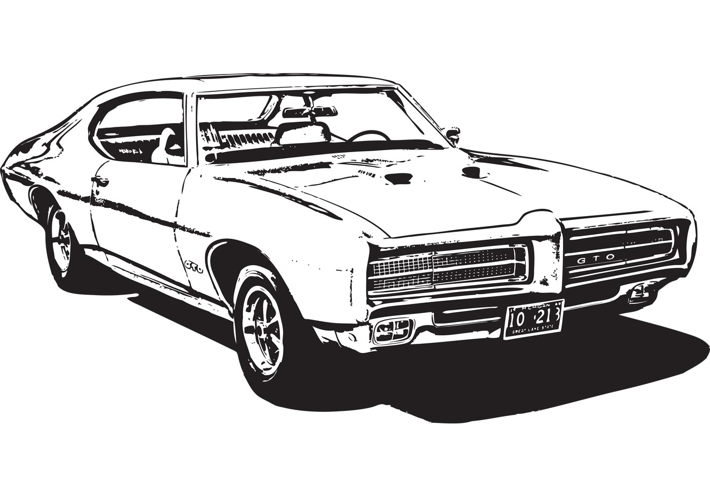 Muscle Car Silhouette At Getdrawings Com Free For