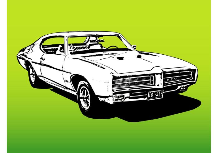 700x490 Muscle Car Free Vector Art