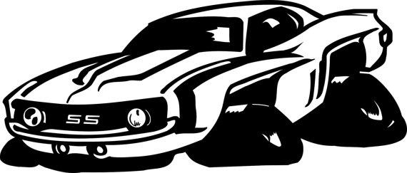570x243 Muscle Car Svg File Cricut Silhouette