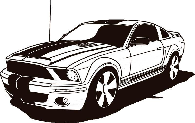 800x504 Mustang Stencil Stencils Amp Printables Mustang