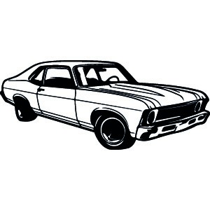 Muscle Car Silhouette at GetDrawings.com | Free for ...