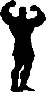 151x300 Muscle Man Silhouette Vinyl Decal 150mm Ebay