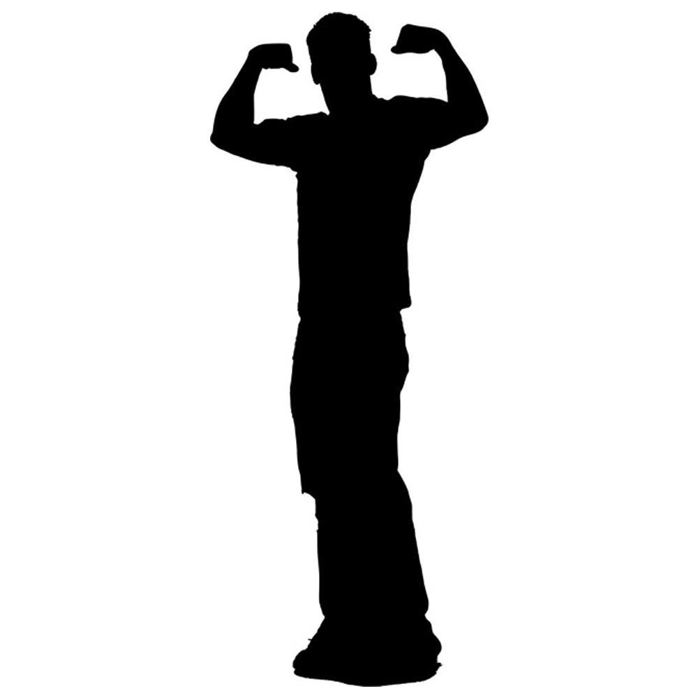 1000x1000 Muscle Man Silhouette Stencil By Crafty Stencil