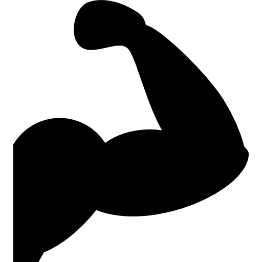 512x512 Arm Muscles Silhouette