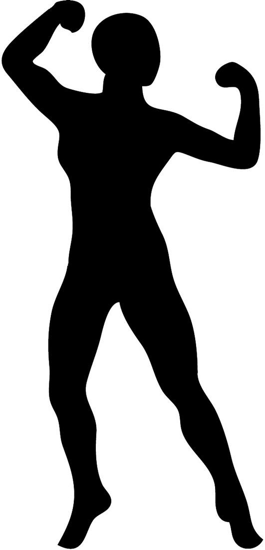 531x1102 Women Clipart Bodybuilder