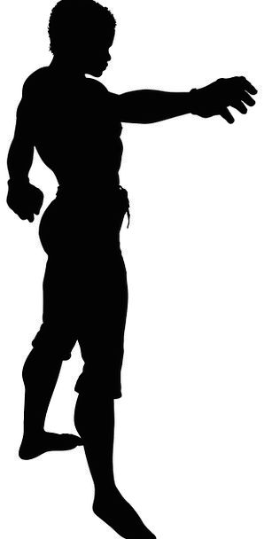 298x608 Silhouette, Outline, Gentleman, Fitness, Suitability, Man