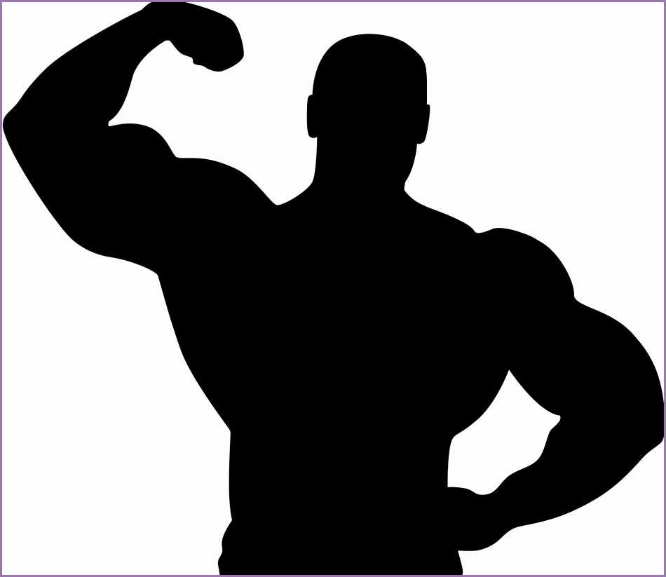 950x823 4 Muscle Silhouette