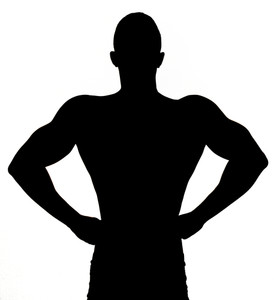 274x300 Silhouette Of A Handsome Muscular Man Royalty Free Stock Image