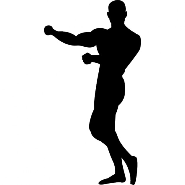 626x626 Gymnast Silhouette Showing Muscles Icons Free Download