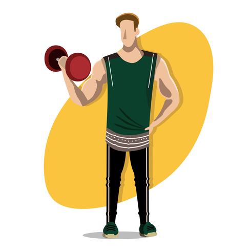 490x490 Muscle Man Free Vector Art