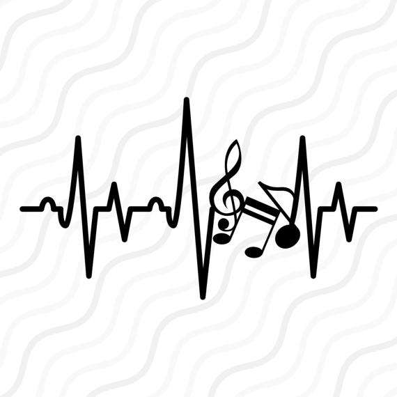 570x570 Music Note Heartbeat Svg, Music Note Svg, Heartbeat Svg Cut Table