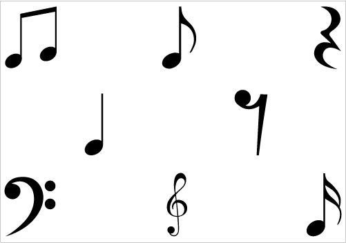 music note silhouette at getdrawings com free for personal use rh getdrawings com musical notes background free vector vector music notes free download