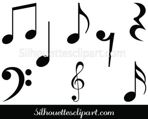 480x384 Silhouette Clipart Music Collection