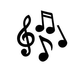 340x270 Musical Notes Svg Etsy