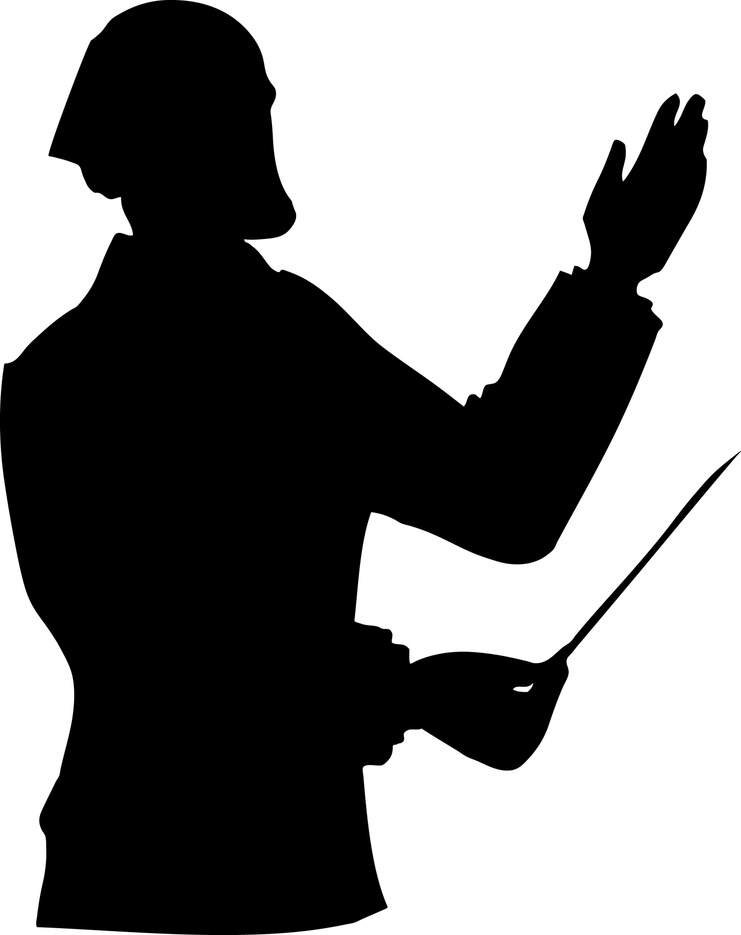 1521x1920 Music Conductor Silhouette Free Stock Photo