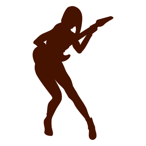 512x512 Music Guitar Musician Silhouette In Red