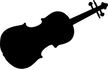 425x278 Violin Silhouette Clip Art Vector, Free Vector Images