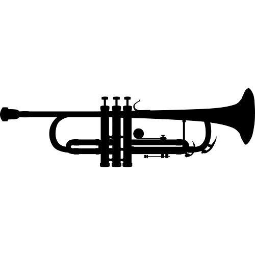 500x500 Clipart Trumpet Silhouette Clipartfest
