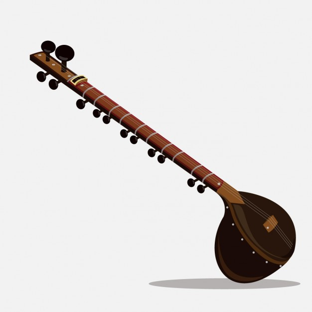 626x626 Indian Music Sitar Vector Free Download