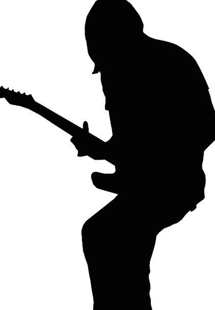 422x608 Guitarist, Outline, Guitar, Silhouette, Person, Music, Melody