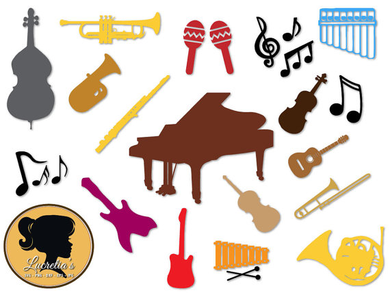 570x428 Musical Instruments Silhouette, Instruments Design Svg Cameo