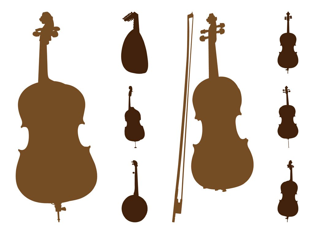 1024x765 String Instruments Silhouettes Vector Art Amp Graphics